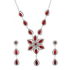 Fantosy Alloy Jewel Set(Red) #Jewellery #OnlineJewelleryShopping #JewelleryOnline #LadiesJewelleryOnline #FashionJewellery