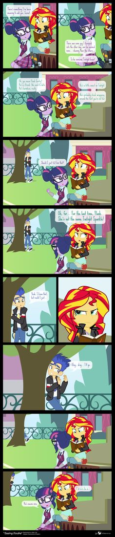 #992764 - artist:dm29, comic, crystal prep academy, equestria girls, flash sentry, friendship games, safe, spoiler:friendship games, stalker, sunset shimmer, twilight sparkle - Derpibooru - My Little Pony: Friendship is Magic Imageboard