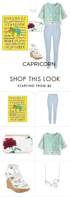 """The casual Capricorn style"" by makeuphobbyist ❤ liked on Polyvore featuring Traits, River Island, Oscar de la Renta, Chicwish, GUESS, Belk & Co., fashionhoroscope and stylehoroscope"