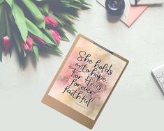 """She hold onto hope For He is forever faithful"" Printable - spoonyprint Printable Bible Verses, Printable Quotes, Bible Verses Quotes, Hold On, Poster Prints, Printables, Faith, Mockup, Commercial"