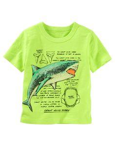 Kid Boy Shark Info-Graphics Tee | OshKosh.com