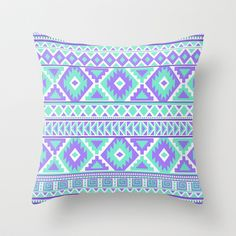 A beautiful tribal pattern in mint green and purples. Makes a nice design on many products.