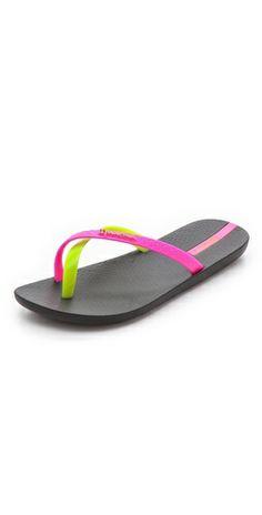 A neon twist on flip-flops