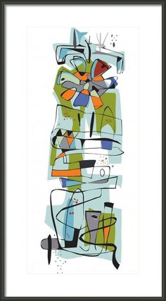 Midcentury inspired Giclee print Fairview 1950 by EdwinWade, $30.00