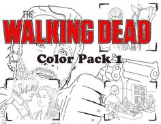 8 Name Paper Crafts The Walking Dead Coloring Pack 1
