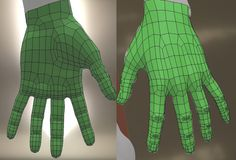 Anatomically correct topology for animation hands Zbrush Tutorial, 3d Tutorial, Blender 3d, 3d Character Animation, Human Animation, Face Topology, Polygon Modeling, 3d Computer Graphics, 3d Human