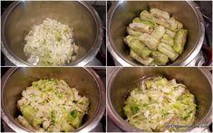 Sarmale cu varza dulce, proaspata si rosii - de vara   Savori Urbane Arancini, Potato Salad, Cabbage, Potatoes, Vegetables, Ethnic Recipes, Food, Canning, Potato