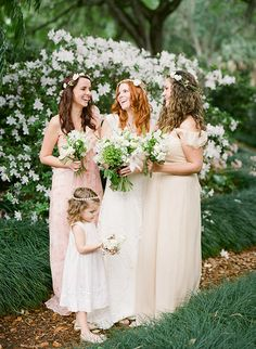 Organic Hippie! Bouquets by FH Weddings, Photography by Justin DeMutiis Photography, Dresses by Malindy Elene Couture