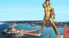 The Colossus of Rhodes could be reborn to boost tourism in Greece.
