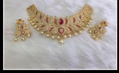 One Gram Gold Plated Choker Designs, 1 Gram Gold Plated Gold Choker Necklace…