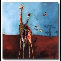 "Catherine Rebeyre : ""Kiganjo"" Illustrations, Illustration Art, Happy Art, Plant Hanger, Photoshop, Fancy, Drawings, Color, Image"