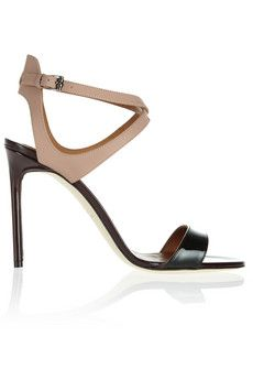 Reed Krakoff Color-block rubberized and patent-leather sandals | NET-A-PORTER