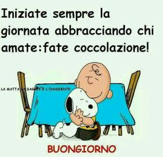 Snoopy Love, Snoopy And Woodstock, Love Quotes, Funny Quotes, Italian Quotes, Italian Humor, Snoopy Quotes, Good Morning Good Night, Good Thoughts