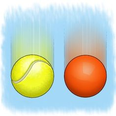 Which falls faster? Will a light tennis ball hit the ground before a heavier field hockey ball? Replicate an ancient legendary experiment and find out. [Illustration by George Retseck for Scientific American]