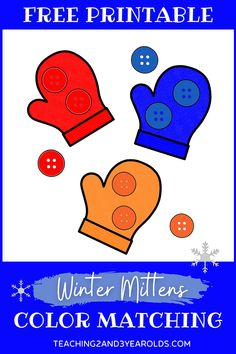 Working on color recognition with your toddlers and preschoolers? This printable mitten winter color matching activity is simple and can be used in a variety of ways! #winter #mitten #color #matching #activity #printable #toddlers #preschool #2yearolds #3yearolds #teaching2and3yearolds Preschool Color Activities, Winter Activities, Preschool Activities, Toddler Class, Toddler Fun, Toddler Preschool, Winter Colors, Winter Theme, Gingerbread Man Activities