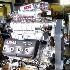 Who's keen on motor pics?! ----- #Chevy #arias #blown #supercharged