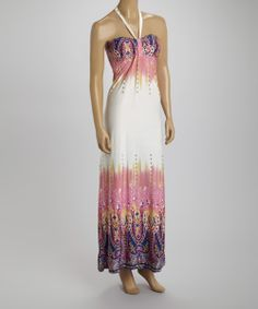 Purple  Pink Paisley Halter Dress | zulily