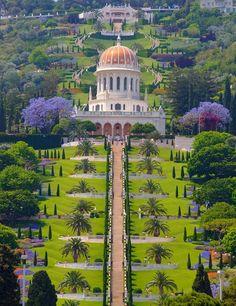 Santuario del Bab entre las 19 terrazas que suben el Monte Carmelo. Haifa               algun dia lo visitare