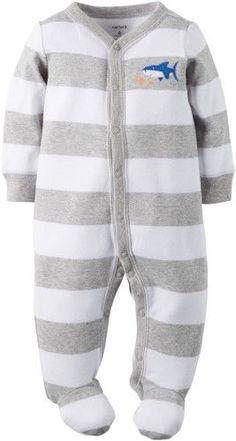 Carter s Baby Boys Shark Stripe Sleep  amp  Play Carters Baby Boys 46f2510f3