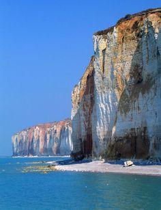 "bluepueblo: ""Sea Cliffs, Normandy, France photo via global """