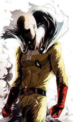 Saitama - One Punch Man \ ^^ / One Punch Man 2, One Punch Man Workout, Saitama One Punch Man, One Punch Man Manga, Dope Cartoon Art, Dope Cartoons, Anime Lineart, Cool Anime Pictures, Beautiful Dark Art