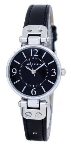 Features: Stainless Steel Case Leather Strap Quartz Movement Mineral Crystal Glass Black Dial Analog Display Pull Switch / Crown Buckle Clasp 30M Waterproof Estimated case diameter: 26mm Estimated case thickness: 9mm Crown And Buckle, Anne Klein Watch, Online Watch Store, Stainless Steel Case, Quartz, Watches, Crystals, My Style, Stuff To Buy