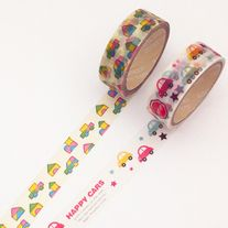 Washi+tapes+with+car+and+toy+patterns Great+for+scrapbooking,+card+making,+gift+wrap,+etc  Quantity:+2+pcs Size:+1.5+cm(W)+x+3+m(L)
