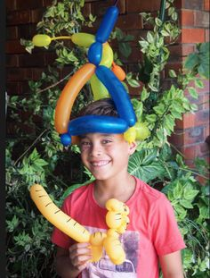 Funky hat and Tiger balloon hat. Parties Kids Remember in Perth WA Balloon Twisting Balloon Hat, Balloons, Parties Kids, Birthday Parties, Balloon Quotes, Funky Hats, School Fair, Dimples, Western Australia