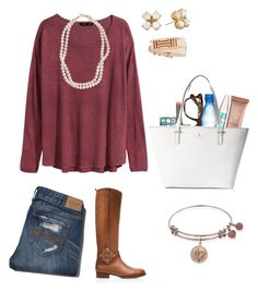 """honor choir✌ read d"" by lydiamorrison ❤ liked on Polyvore featuring Maybelline, H&M, STELLA McCARTNEY, Urban Decay, Tory Burch, Ray-Ban, DuWop, Kate Spade, Abercrombie & Fitch and women's clothing"