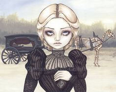 Bleak Mourning funeral chariot fairy art print by Jasmine Becket-Griffith12x16 BIG