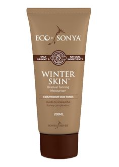 Fake Tans - Eco Tan Organic Winter Skin Gradual Tanning Moisturizer - Builds to a Honey Complexion. Suitable for Light to Medium Skin Tones. Australia Certified Organic Vegan Natural Color Chemical-free by Eco By Sonya (Affiliate Link) Summer Skin, Face Skin Care, Organic Skin Care, Aloe Vera, Body Care, Sony, Lotion, At Least, Top