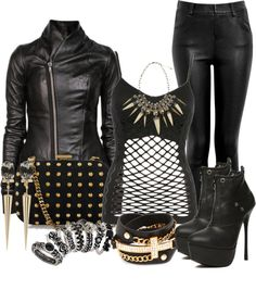 """""""My Biker Babe Inspired Outfit"""" by lisamoran on Polyvore"""