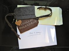 Two Girls Making Stuff: DIY Branded Leather Luggage Tags