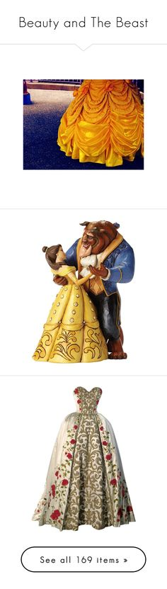 """""""Beauty and The Beast"""" by imnotariot ❤ liked on Polyvore featuring Beauty, disney, princess, belle, beast, backgrounds, pictures, beauty and the beast, home and home decor"""