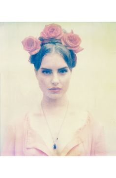 Romance polaroid by Anouk Nitsche. The styling on this shoot is so. damn. fierce.