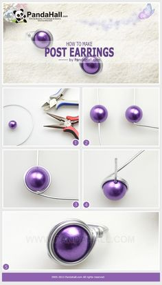 Easy DIY earrings. #Wire #Jewelry #Tutorials