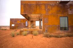 Weathered steel and reclaimed wood clad stunning cabins on a Navajo reservation / The Green Life <3