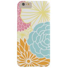 Colorful Mod Florals Barely There iPhone 6 Plus Case