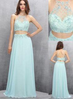 Custom Made Comfortable Sleeveless Prom Dresses, Light Blue #prom #promdress #dress #eveningdress #evening #fashion #love #shopping #art #dress #women #mermaid #SEXY #SexyGirl #PromDresses
