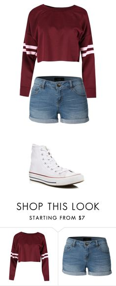 By mhupp22 on Polyvore featuring LE3NO and Converse