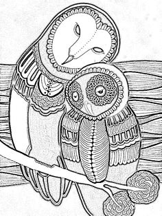 Owl Coloring Books for Adults - √ 32 Owl Coloring Books for Adults , Free Difficult Coloring Pages for Adults Owl Coloring Pages, Coloring Pages For Grown Ups, Pattern Coloring Pages, Doodle Coloring, Printable Coloring Pages, Coloring Books, Owl Art, Doodle Art, Art Nouveau