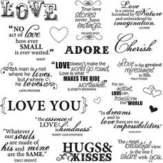 Fiskars Lasting Love 8x8-inch Quote Clear Stamp Sheet