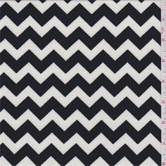 White/Black Chevron Ponte de Roma Double Knit - 37652 - Fabric By The Yard At Discount Prices