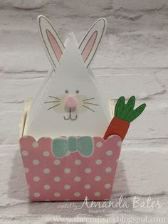 The Craft Spa - Stampin' Up! UK independent demonstrator : Easter Bunny Pyramid Pal... extended version...