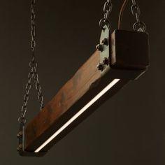 Wood Beam LED Pendant Light No.1 • Edison Light Globes Pty Ltd Farmhouse Lighting, Rustic Lighting, Lighting Ideas, Rustic Farmhouse, Kitchen Lighting, Rustic Bench, Rustic Shelves, Rustic Outdoor, Lighting System