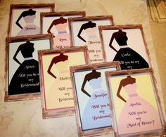 Will you be my bridesmaid - Custom - 8 notecards with envelopes - Wedding - African American -  PQ 345 on Etsy, $24.00
