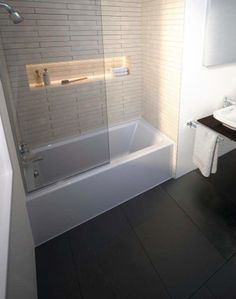 Buy the Duravit 700356000000090 White Direct. Shop for the Duravit 700356000000090 White Architec Acrylic Soaking Bathtub for Alcove Installations with Front Apron and Flange and Left Hand Drain and save. Bathtub Alcove, Bathtub Shower, Diy Shower, Bath Tub, Corner Bathtub, Bathtub Remodel, Shower Remodel, Duravit, Bathroom Renovations