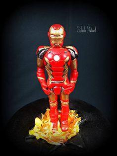 3D Iron Man-Figur, Torte