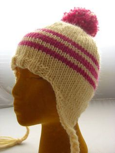 01524d2599a Ear flap hat tutorial - KNITTING Knitted Hats Kids