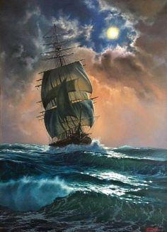 Behind The Scenes By arts_promote Ship Paintings, Seascape Paintings, Ship Tattoo Sleeves, Tall Ships Festival, Moby Dick, Old Sailing Ships, Pirate Art, Ship Drawing, Wooden Ship